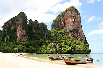 Krabi, Railey Beach - Click for large image !