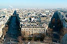 Paris, View from Arc de Triomphe - Click for large image !